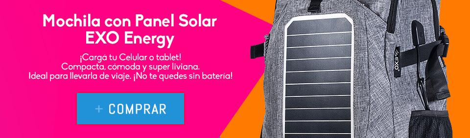 Mochila Smart Solar EXO Energy